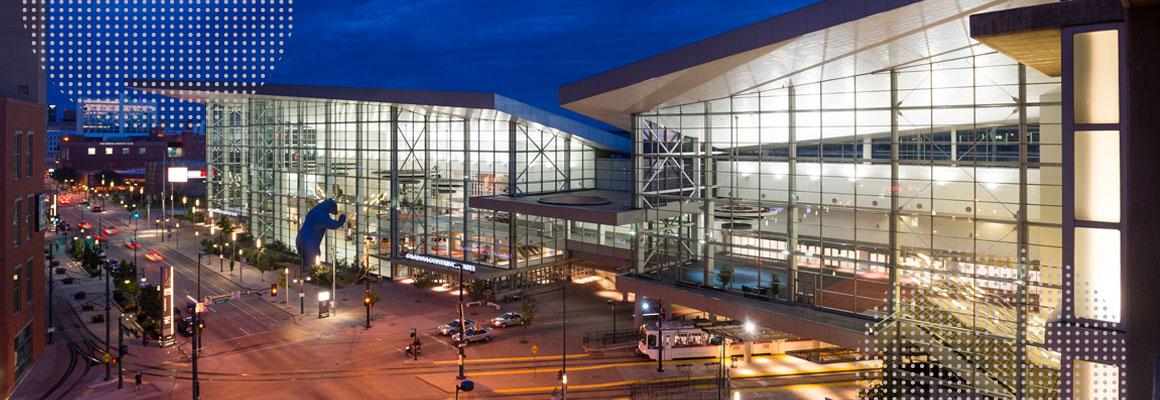 cbc21 Venue - denver convention center at night