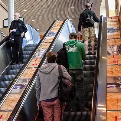 branded escalators Craft Brewers COnference
